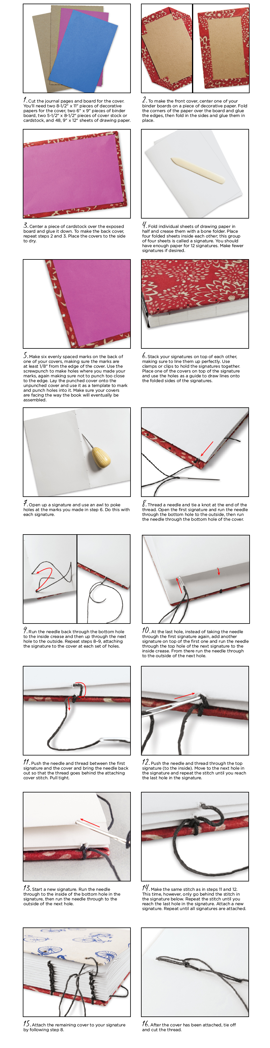 Soft Cover Book Binding Tutorial : Hard cover coptic stitch ideas pictures to pin on