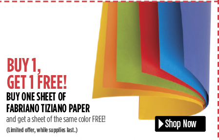 Buy any Fabriano Tiziano Pastel or Charcoal Paper and get one free