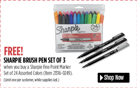 sharpie brush pen set