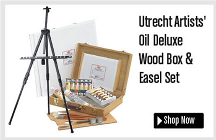 Utrecht Artists' Oil Deluxe Wood Box and Easel Set