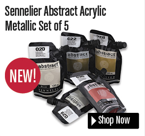 Sennelier Abstract Acrylic Metallic Set of 5