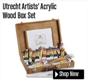 Utrecht Artists' Acrylic Wood Box Set