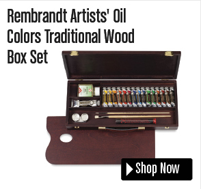 Rembrandt Artists' Oil Colors Traditional Wood Box Set