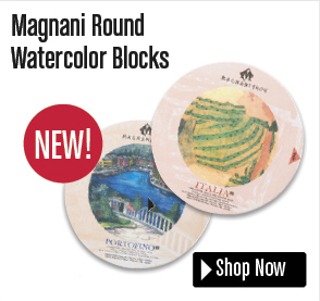 Magnani Round Watercolor Blocks