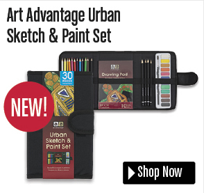 Art Advantage Urban Sketch & Paint Set