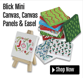 Blick Mini Canvas, Canvas Panels & Easel