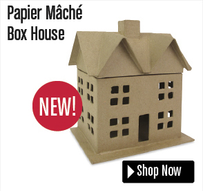 Papier Mâché Box House