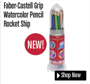 Faber-Castell Grip Watercolor Pencil Rocket Ship