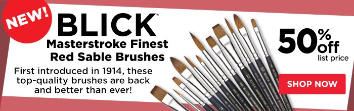 Blick Masterstroke Finest Red Sable Brushes
