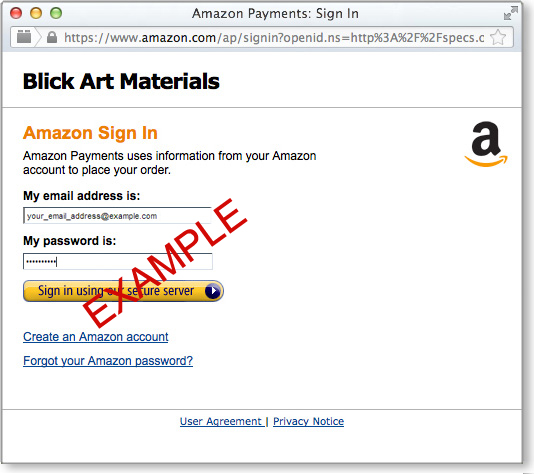 Amazon Payments Sign-In