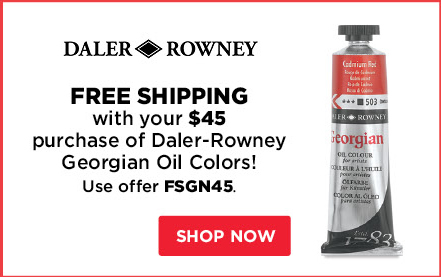 Free Shipping with your $45 purcahse of Daler-Rowney Georgian Oil Colors!