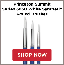 Princeton Summit Series 6850 White Synthetic Round Brushes