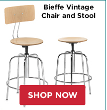 Bieffe Vintage Chair and Stool