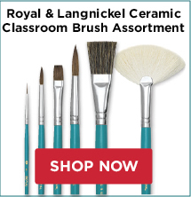 Royal and Langnickle Ceramic Classroom Brush Assortment