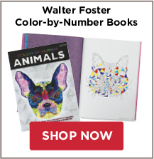 Walter Foster Color-by-Number Books