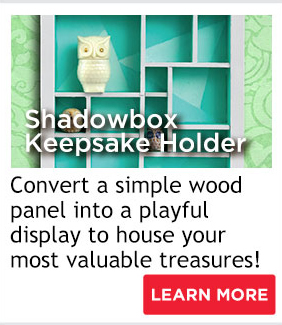 Shadowbox Keepsake Holder