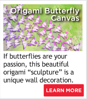 Origami Butterfly Canvas
