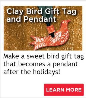 Clay Bird Gift Tag and Pendant