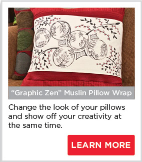Graphic Zen Muslin Pillow Wrap