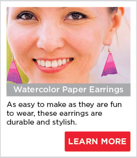 Watercolor Paper Earrings
