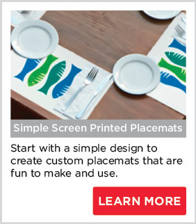Simple Screen Printed Placemats