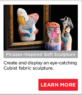 Picasso-Inspired Soft Sculpture