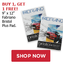 BUY ONE GET ONE FREE! 9 x 12 Fabriano Bristol Plus Pads