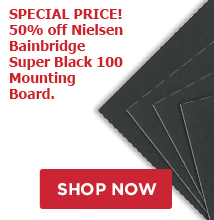 Special Price 50% off Super Black 100 Mounting board