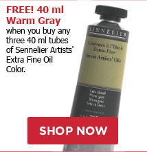 FREE! 40 ml Warm Gray when you buy any three tubes Senniler Artists Oils