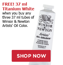FREE! 37 ml Titanium White when you buy any three 37 ml tubes of Winsor & Newton Artist Oil Colors