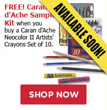 FREE! Caran D'Ache Sample Pencil Kit when you buy Caran D'Ache NeoColor II Set of 10