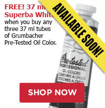 Free Superba white when you buy any three grumbacher Pretested Oils