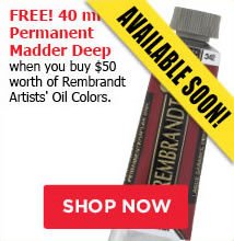 Free Permanent Madder Deep when you buy 50 worth of Rembrandt Artist