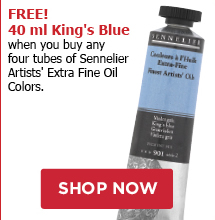 FREE! 40 ml Kings Blue when you buy any four tubes of Sennelier Artists Extra Fine Oil Colors.