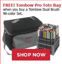 FREE! Tombow Pro Tote Bag when you buy a Tombow Dual Brush 96-color set.