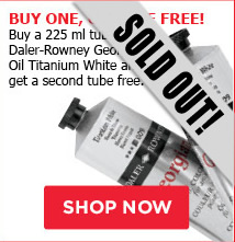 Buy One, Get One Free! Buy a 225 ml tube of Daler-Rowney Georgian Oil Titanium White and get a second tube free.