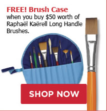 FREE! Brush Case when you buy $50 worth of Raphaël Kaërell Long Handle Brushes