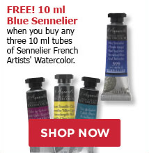 FREE 10ml Blue Sennelier when you buy any three 10ml tubes of Sennelier French Artists' Watercolors