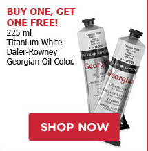 BUY ONE, GET ONE FREE! 225ml Titanium White Daler-Rowney Georgian Oil Color