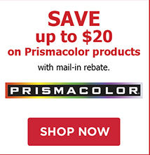 SAVE up to $20 on Prismacolor Products