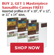 BUY 2, GET 1 Masterpiece Sausalito Canvas Free! Assorted profiles in 8 x 10, 9 x 12, or 11 x 14 sizes