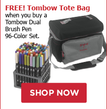 FREE! Tombow Tote Bag when you buy a Tombow Dual Brush Pen 96-Color Set