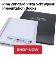 Pina Zangaro Vista Screwpost Presentation Books