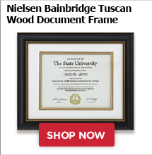 Nielsen Bainbridge Tuscan Wood Document Frame