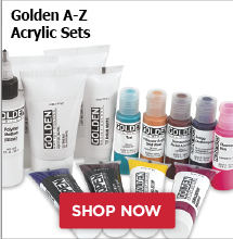 Golden A-Z Acrylic Sets