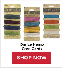 Darice Hemp Cord Cards
