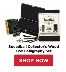 Speedball Collector's Wood Box Calligraphy Set