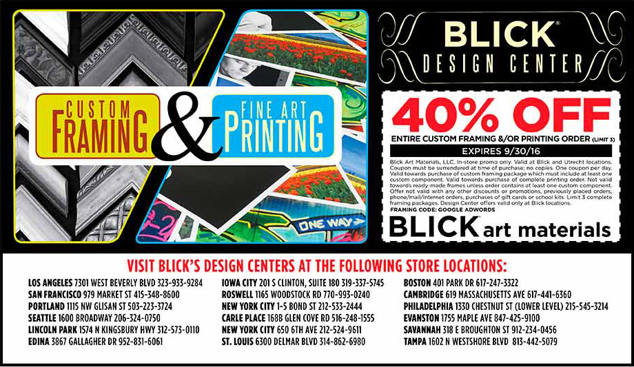 Blick art supplies portland coupons