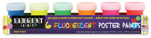 Fluorescent Set of 6 Colors