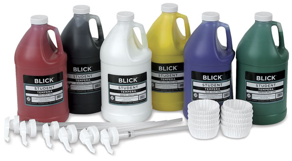 6-Color Pump Kit, Half Gallons